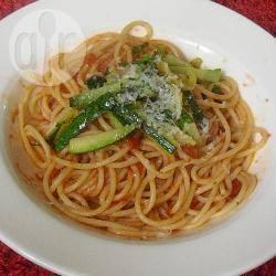 Spaghetti met courgette recept