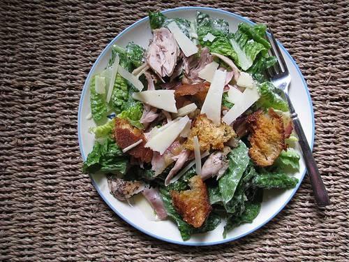 Caesarsalade met lekkere kip van jamie recept