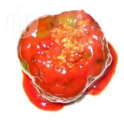 Vegetarische gevulde paprika recept