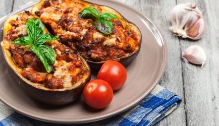 Gevulde aubergine recept