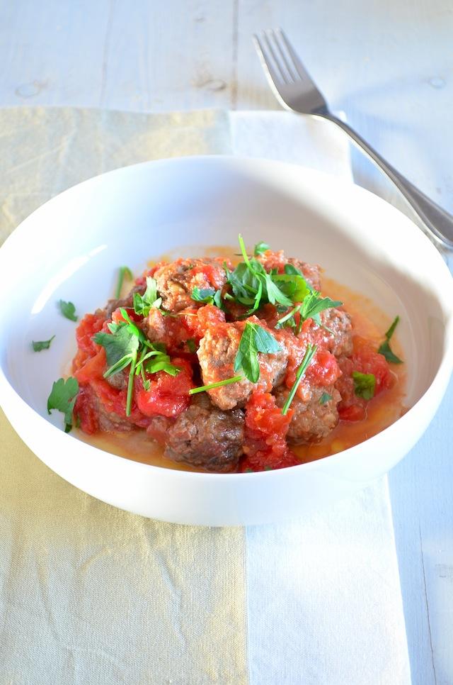 Tapas gehaktballetjes in tomatensaus
