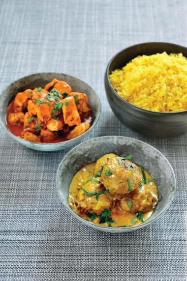 Recept 'zachte gele curry met lamsvlees en citroenrijst'