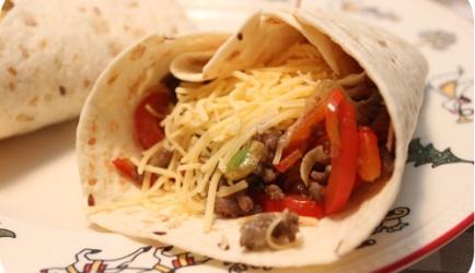 Tortilla's met gehakt op zijn mexicaans recept