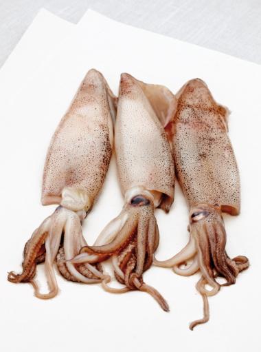 Recept 'gestoomde pijlinktvis gevuld met couscous'