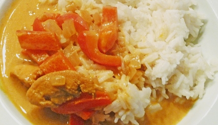 Afrikaanse spicy kipreepjes in romige saus recept
