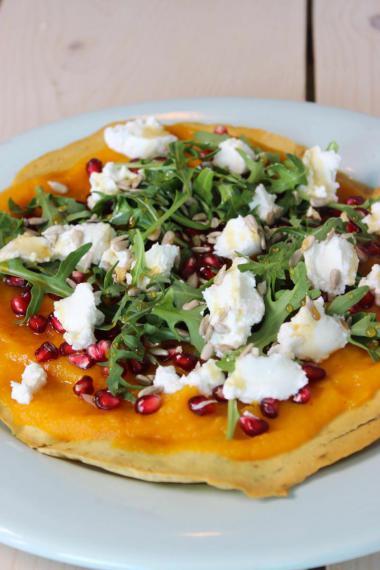 Recept 'glutenvrije groentepizza'