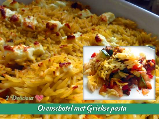 Ovenschotel met griekse pasta recept