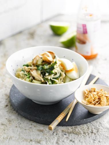 Recept 'pittige eiernoedels'