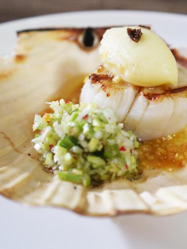 Recept 'gegrilde sint-jacobsvruchten met prei en vanille'