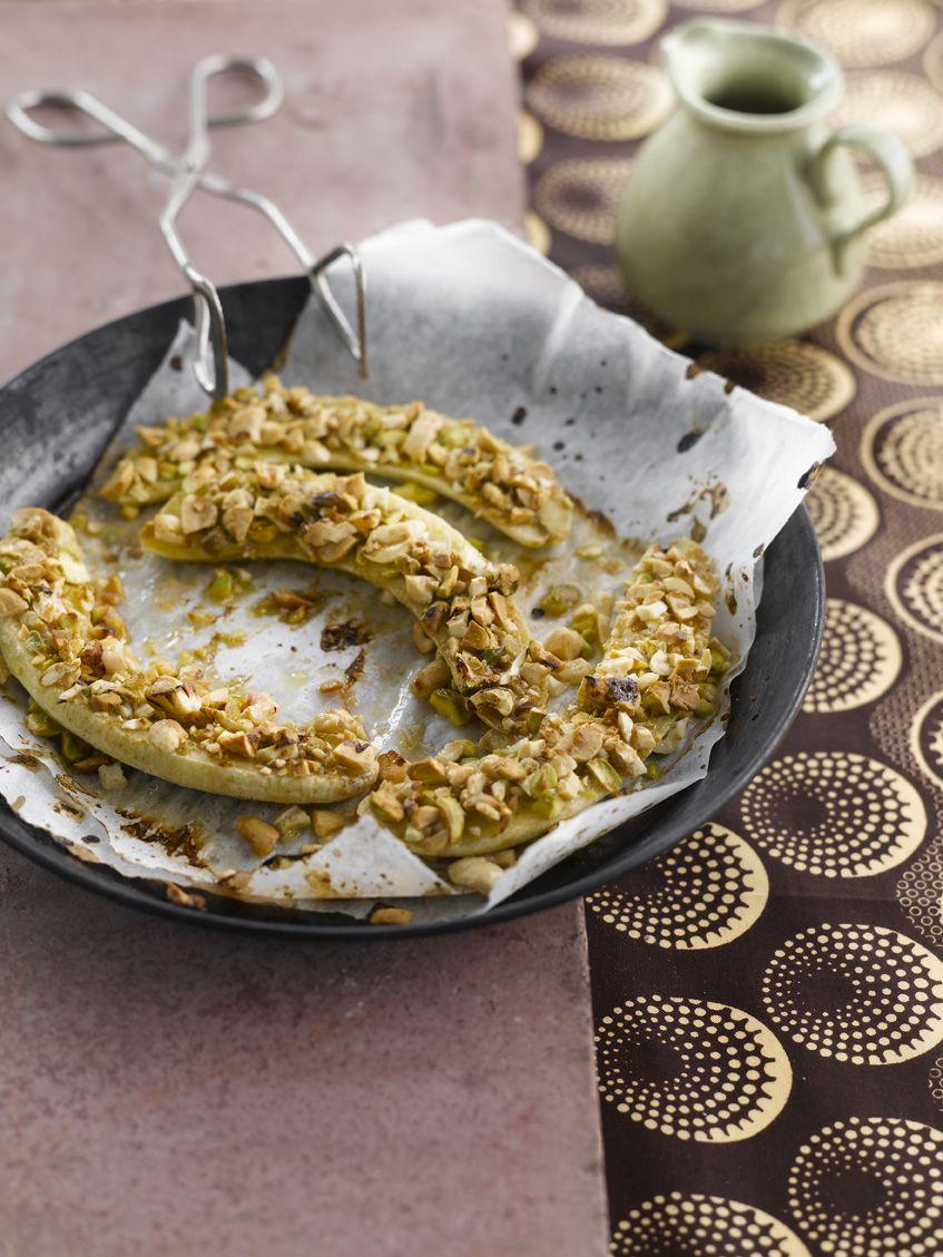 Recept 'gebakken bananen met noten'
