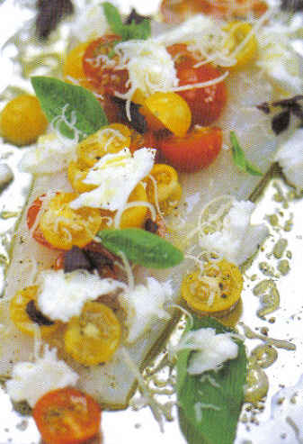 *jamie oliver's kabeljauw met kerstomaatjes en mozarella recept ...