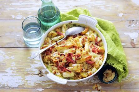 Romige asperge-aardappelgratin