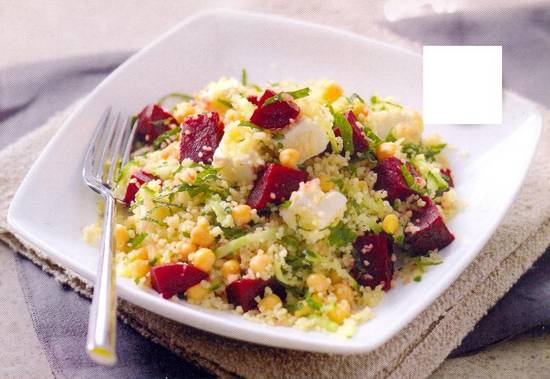 Rode bieten, kikkererwten en feta salade recept