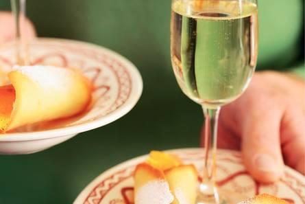 Cannoli met citrus-vanillesalade