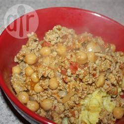 Zoete en pittige curry met kikkererwten recept