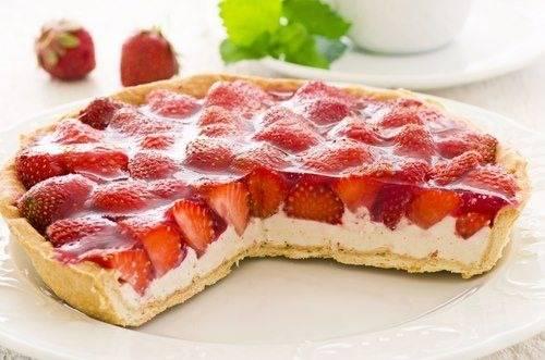 Aardbeien-ricotta taartje recept