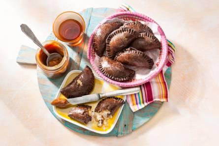 Chocolade-empanadas met banaan en kokos