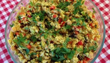 Marokkaanse couscoussalade, heerlijk bij de barbecue recept