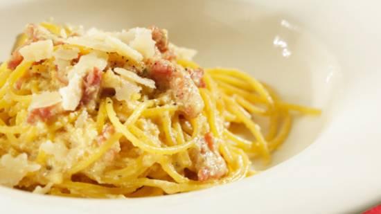 Boursin spagetti carbonara recept