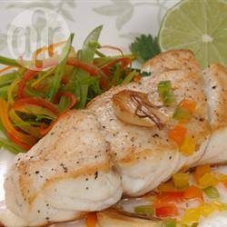 Gemarineerde zeebaars met verse salsa recept