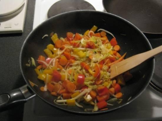 Couscous met gewokte groenten en kip recept