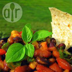 Mexicaanse bonensalade met paprika en maïs recept