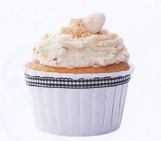 Amandel-dadel cupcake met pralinertopping recept