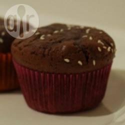 Chocolade-fondantcakejes met pompoenpitten recept