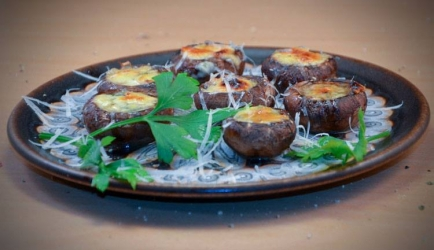 Kastanje champignons met gorgonzola recept