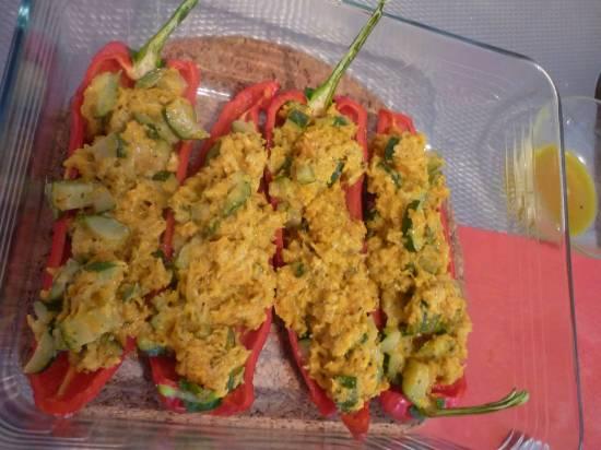 Gevulde paprika snel recept