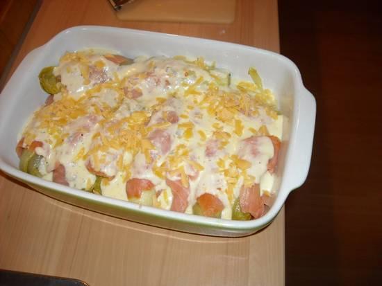 Romige witlof in gerookte zalm ( ovenschotel ) recept