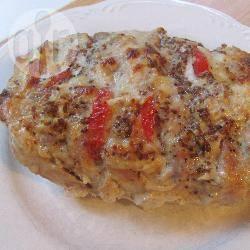 Varkensvlees gevuld met kaas en tomaten recept