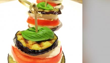Gegrilde aubergine taartjes recept