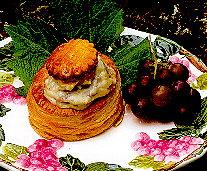 Pasteitje met brie, mosselen, champignons en garnalen recept ...