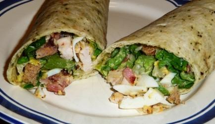 Wraps met caesar salade recept