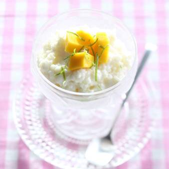 Kokos rijst dessert met mango recept