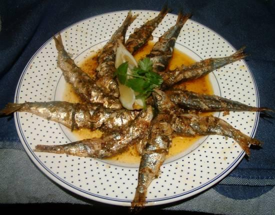 Gemarineerd oven geroosterd sardine recept