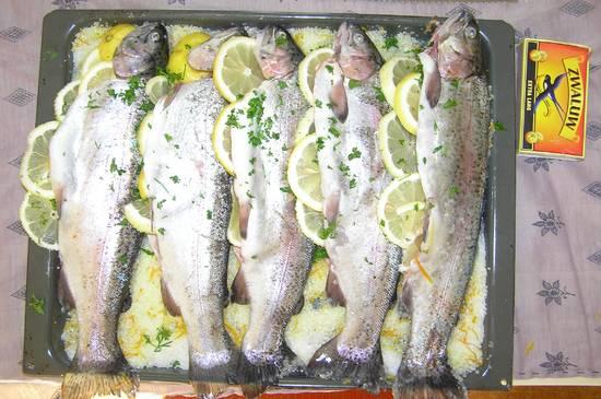 Zalmforel in zoutkorst recept