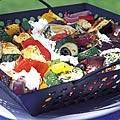 Mediterrane groenten van de barbecue recept