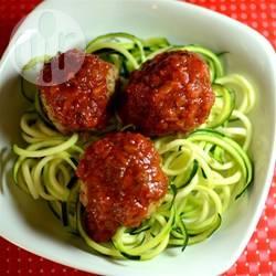 Courgetti spaghetti recept