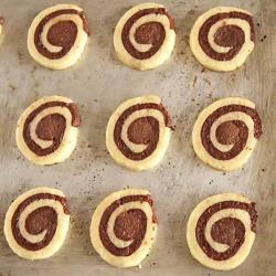 Chocolade-vanille spiraalkoekjes recept