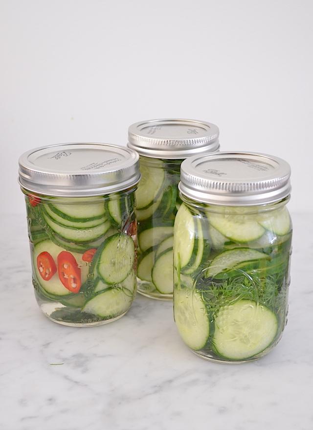 Komkommers inmaken 3x