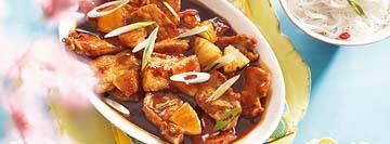 Varkensfilet in zoetzure saus met mihoen recept