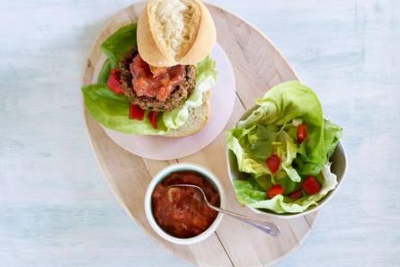 Picadilloburger met gegrilde paprika