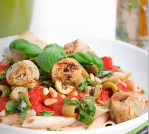 Pasta met groente saus (vegetarisch) recept