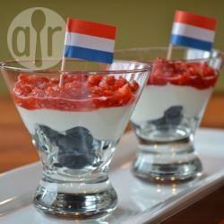 Rood-wit-blauw dessert recept