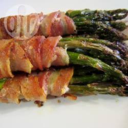 Asperges met spek uit de oven recept