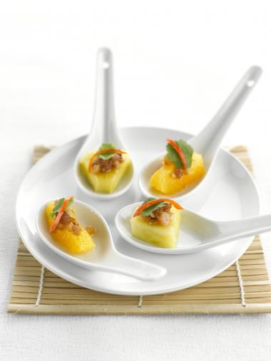 Recept 'thaïse lepeltjes met ananas'