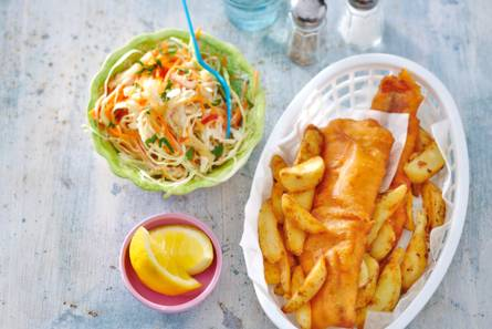 Fish & chips met spitskoolsla