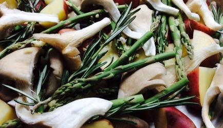 Aardappelpuree met groente uit de oven recept
